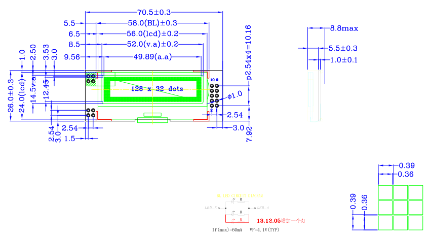 lh12832k5g点阵液晶模块