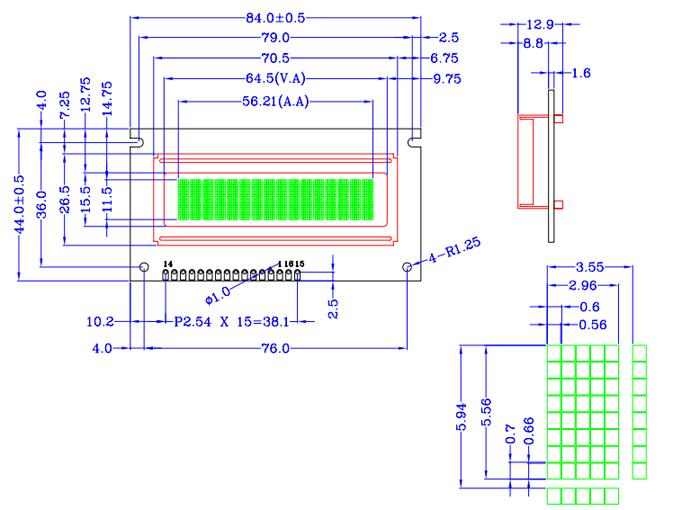 点阵屏焊接电路图